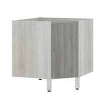 Balcão de Cozinha Canto Diagonal 76x82,5x75cm Nodo Prime Luciane