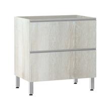 Balcão de Cozinha Misto 53x82,5x53cm Legno Crema Prime Luciane
