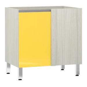 Balcão de Cozinha Reto 53x82,5x53cm Amarelo  Prime Luciane