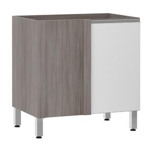 Balcão de Cozinha Reto 53x82,5x53cm Branco Prime Luciane