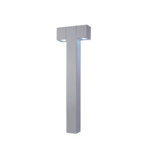 Balizador de Chão Sobrepor Branco Metal Cube Ideal