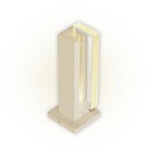 Balizador Felluz Conceito Retangular Alumínio Nude G9