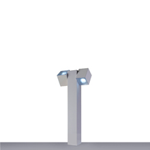 Balizador para Jardim Retangular Metal 100cm Branco Bivolt