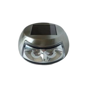 Balizador Solar Ecoforce Redondo Metal Prata