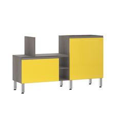 Bancada de Cozinha Península 43,4x82,5x65cm Amarelo  Prime Luciane