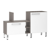 Bancada de Cozinha Península 43,4x82,5x65cm Branco Prime Luciane