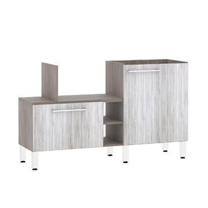 Bancada de Cozinha Península 43,4x82,5x65cm Canova Prime Luciane