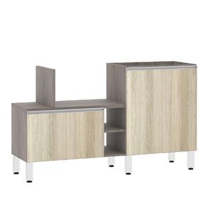 Bancada de Cozinha Península 43,4x82,5x65cm Cedro Prime Luciane