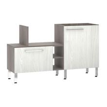 Bancada de Cozinha Península 43,4x82,5x65cm Frassino Bianco Prime Luciane