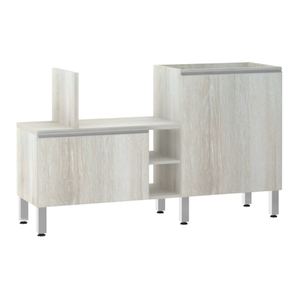 Bancada de Cozinha Península 43,4x82,5x65cm Legno Crema Prime Luciane