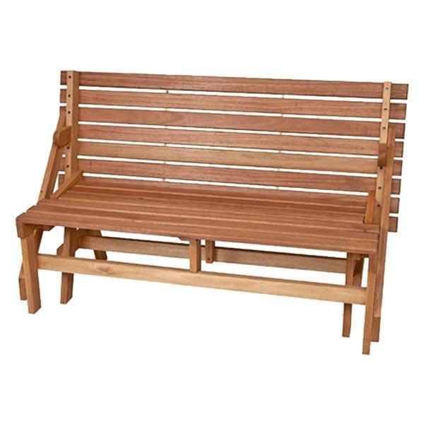 Banco mesa madeira jatob 88x150cm leroy merlin for Bancos de jardin leroy merlin