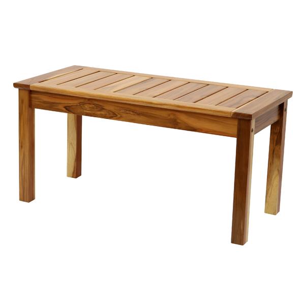 Banco madeira tropic lia teca 43x90cm leroy merlin for Bancos almacenaje leroy merlin