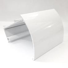 Bandô Curvo em Alumínio Branco