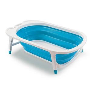 Banheira Infantil Plástico Dobrável Azul Flexi Bath MultiKids