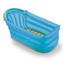 Banheira Infantil Plástico Inflável Azul Bath Buddy MultiKids