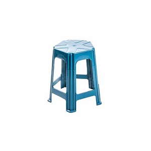 Banqueta Plastica Baixa 5 Pernas Azul