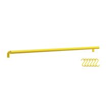 Barra Lisa de Cozinha com 6 Ganchos 80cm Amarelo 4048 Domo