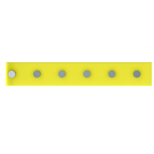 Barra Magnética 40cm com 6 posição Amarelo Domo  27e2bd3c5ce1
