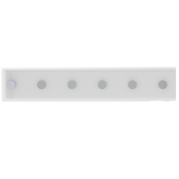 Barra Magnética 40cm com 6 posição Branco Domo  6f939163cdc9