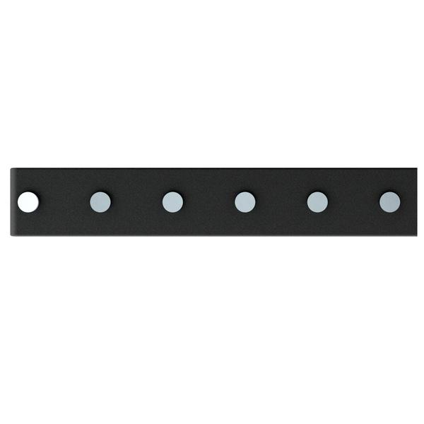 Barra Magnética 40cm com 6 posição Preta Domo  e5427b803ff2