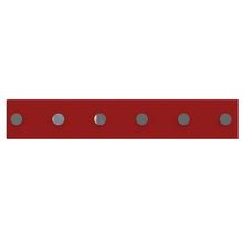 Barra Magnética 40cm com 6 posição Vermelho Domo