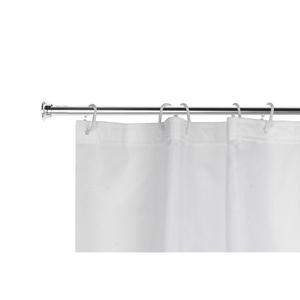 Barra para Cortina de Banheiro Extensível de 1,20m a 2,20m Cromada Sensea