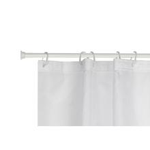 Barra para Cortina de Banheiro Extensível de 120cm a 220cm Branca Sensea