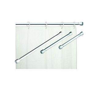 Var o para cortina de banheiro extens vel a o branco maxeb - Barra cortina extensible leroy merlin ...