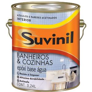 Base C Tinta Epóxi Acetinado Premium Banheiros & Cozinhas 3,2L Suvinil
