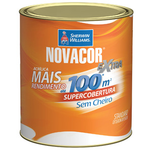 Base E Tinta Acrílica Fosca Standard Novacor Parede 0,8L Sherwin Williams