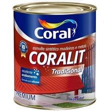 Base F Esmalte Sintético Coralit Tradicional Acetinado 0,8L Coral