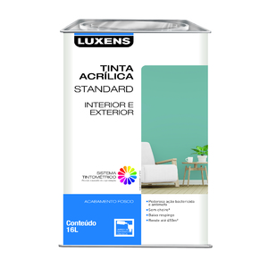 Base M Acrílica Fosca Standard 16L Luxens