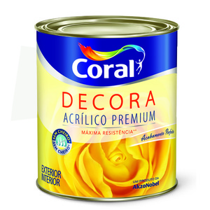 Base M Tinta Acrílica Semi Brilho Decora Premium 0,81L Coral