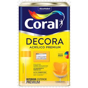 Base MF Acrílica Semibrilho Decora Premium 16L Coral