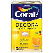 Base P Acrílica Fosco Decora Premium 16,2L Coral