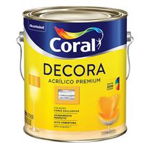 Base P Acrílica Semibrilho Decora Premium 3,2L Coral