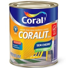Base P Esmalte Sintético Coralit Zero Brilhante 0,8L Coral