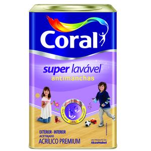 Base P Tinta Acrílica Acetinado Super Lavável Anti Manchas  16,2L Coral