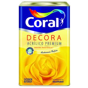 Base P Tinta Acrílica Fosco Decora Premium 16,2L Coral