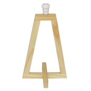 Base para Abajur Mini Grum Triangular Bege Madeira Bivolt