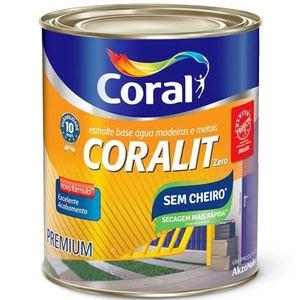 Base PM Esmalte Sintético Coralit Zero Acetinado 0,8L Coral