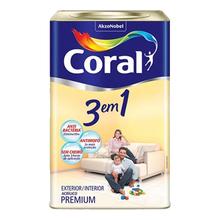 Base T Tinta Acrílica Anti Bactéria e Mofo Fosco Premium 3 em 1 16L Coral