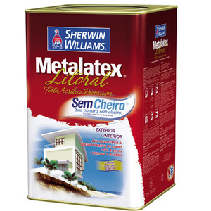 Base W Tinta para Litoral Acetinado Premium Metalatex 16L Sherwin Williams