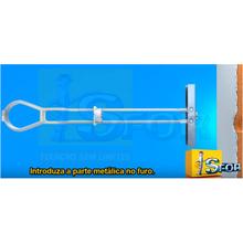 Batedor de Porta Redondo Chão 3,3cm PVC Incolor