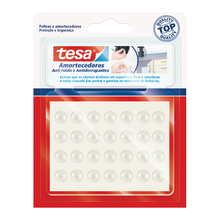 Batente Circular Silicone Transparente 8mm 28 unidades Tesa