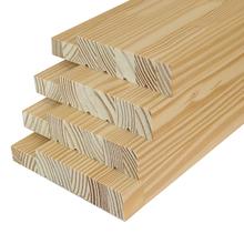 Batente para Porta de Giro Sólido de Madeira Pinus Sem Acabamento Amarelo 215x7,5cm Madvei