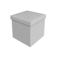 Bau Puff Desmontável Comfort Branco 40x40x40cm Puff Prime