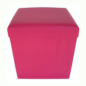 Baú Puff Desmontável Top Pink 43x40x40 cm