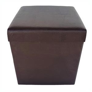 Baú Puff Desmontável Top Tabaco 43x40x40 cm