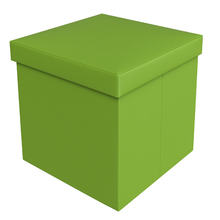 Baú Puff Verde 40x40x40cm Courino